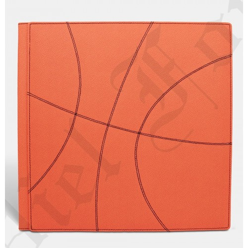 Photo Album Modèle Basket Taille 30X30 Pampas Orange - Numerique