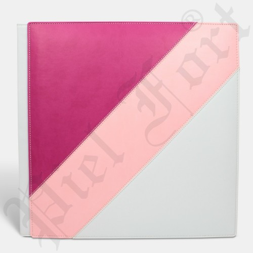 Photo Album Modèle 128 Taille 30X30 New Rose Fuchsia-New Rose Pastel-Epson Blanc