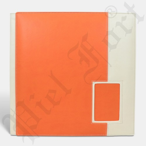 Photo Album Modèle 142 Taille 30X30 New Orange-Epson Blanc