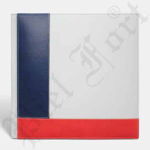Photo Album Modèle 127 Taille 30X30 Epson Blanc-New Bleu Marine-New Rouge
